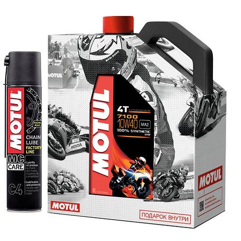 Моторное масло MOTUL 7100 4T SAE 10W40 (4 л.)