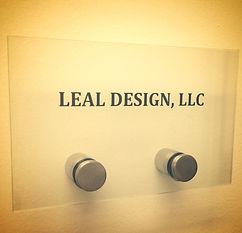 leal design office sign