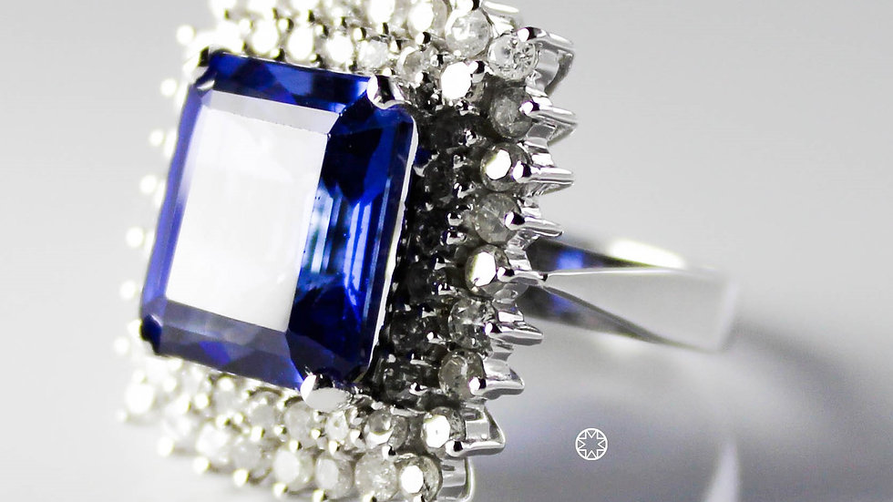 خاتم الماس وكنج زفيرسكوير فينتج عيار 18