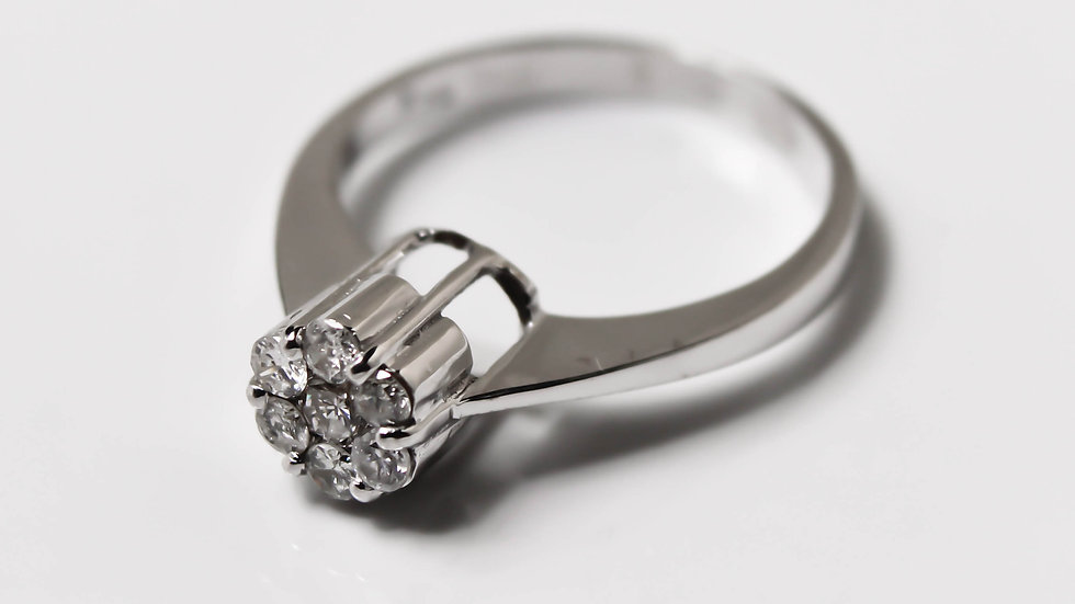 خاتم الماس فلاور عيار 18