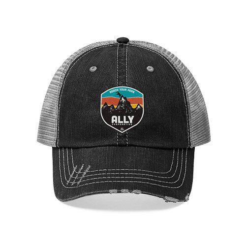 Reach Your Peak Distressed Trucker Hat