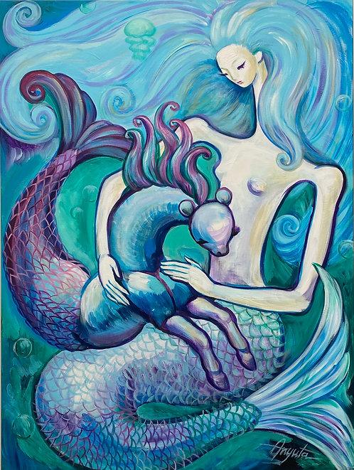 Mermaid with Sea Pony 2