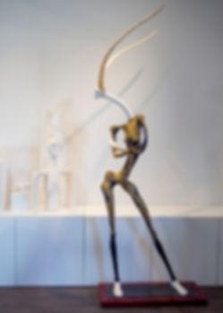 Gazelle Girl sculpture