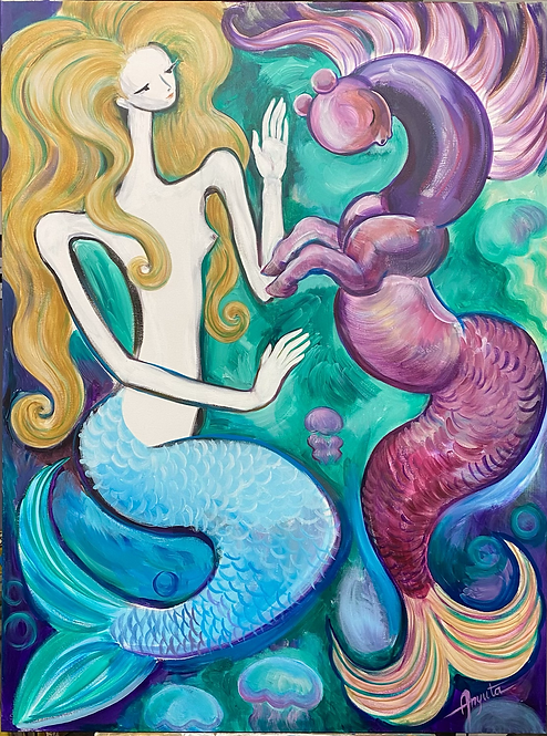 Mermaid with Sea Pony 1