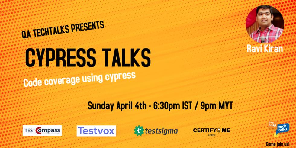 Cypress Talks [Code coverage using cypress]