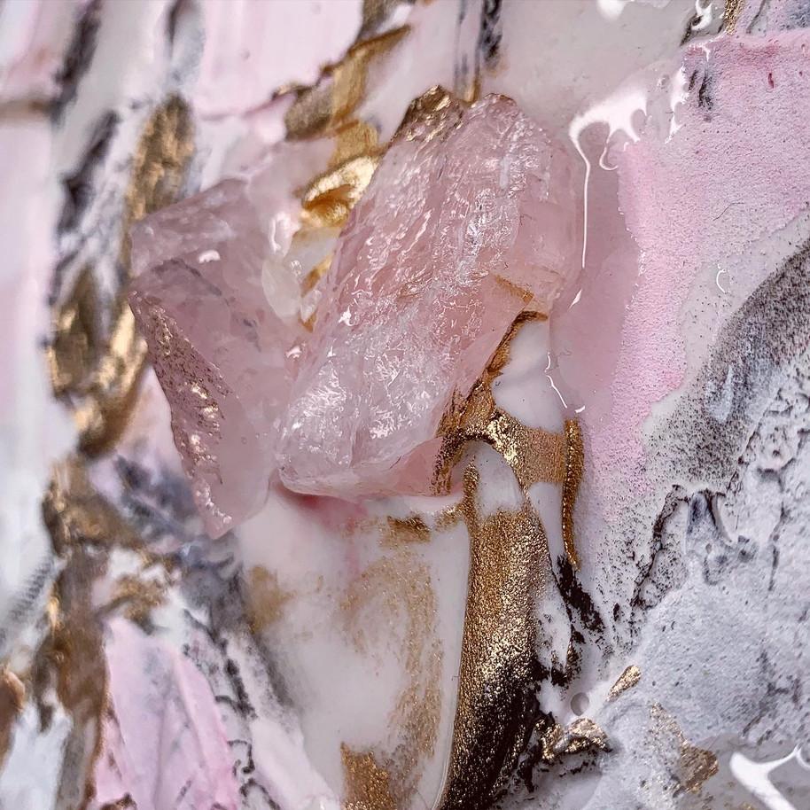 Rose Quartz closeup of YOU SMELL LIKE LOVE by AFOUSSI