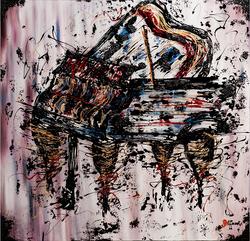 THE PIANO | 36x36x1.5