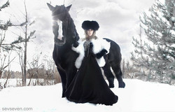 Horse editorial-Makeup artist and hairstylist Amal Afoussi