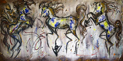 EQUESTRIAN EGO IN FLUO YELLOW & BLUE