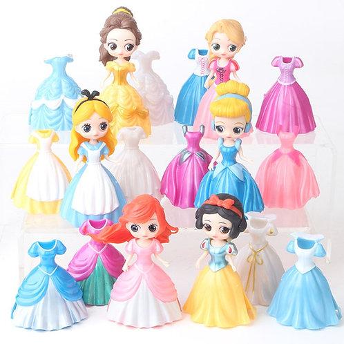 6pcs Disney Figure Toys Frozen Elsa Anna Rapunzel Figurines PVC Action Figures