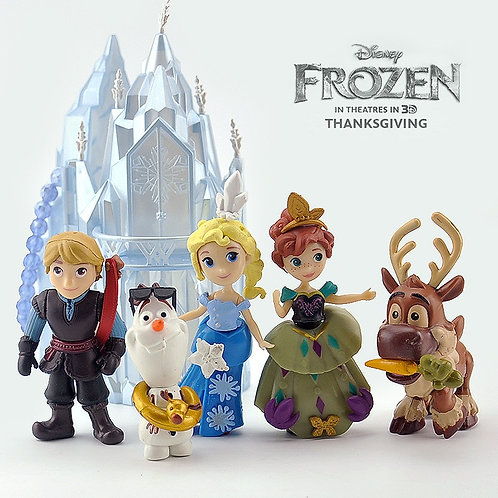 6pcs/Set Disney Frozen PVC Figure Action Toys Model