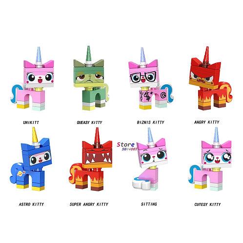 Single Building Blocks Cartoon Unicorn Kitty Toys for Children