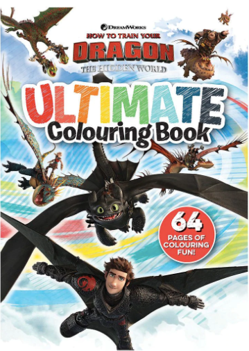 Ultimate Colouring Book - How to train your Dragon
