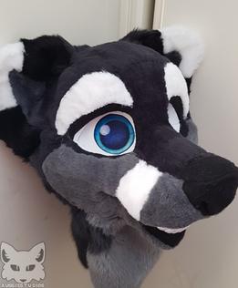 Blue Fox Partial Head