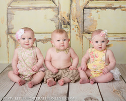Triplets Baby photographer