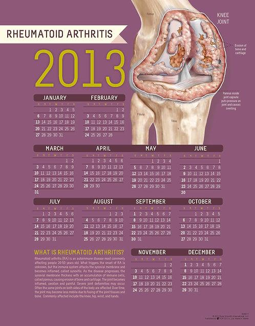 Rheumatoid Arthritis - Wall Calendar
