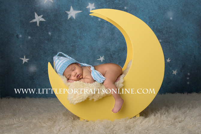 Over the moon | Lake County Newborn Photographer