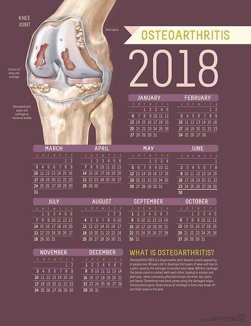 Osteoarthritis - Wall Calendar