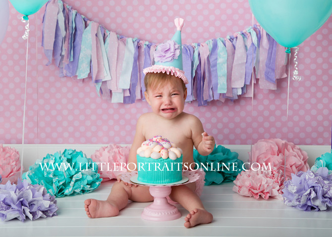 Smash Cake | Lake County Baby Photographer