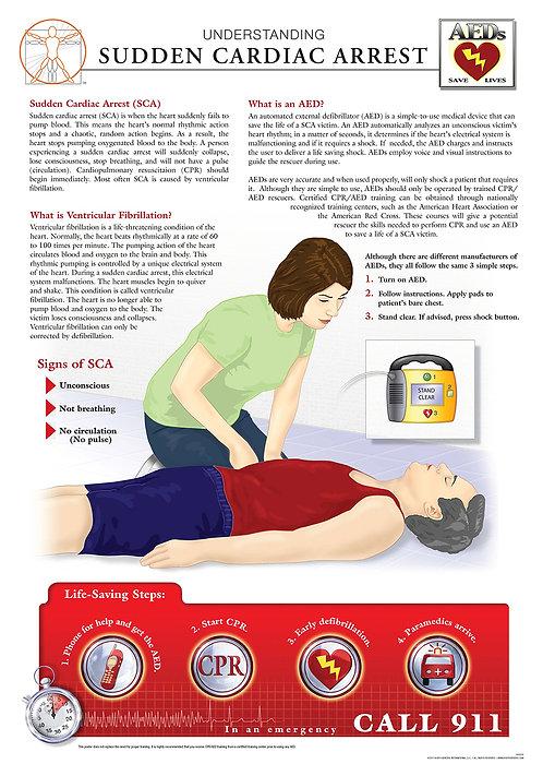Sudden Cardiac Arrest - Anatomical Wall Chart