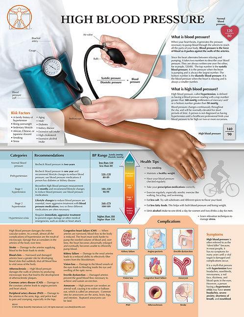 High Blood Pressure - Anatomical Wall Chart