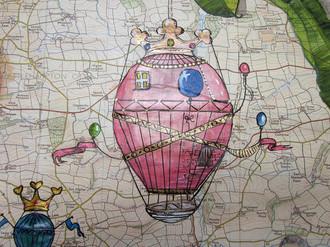 Fantasy hot air balloons