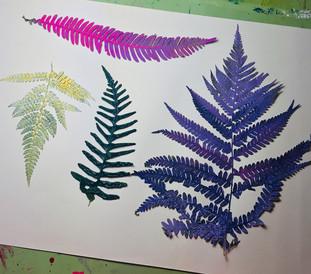 Detail: leafs afer printing
