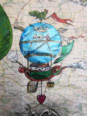 Fantastical hot air balloon