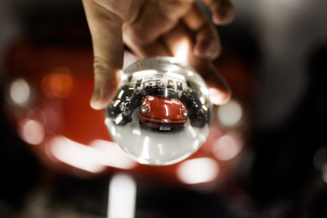 Red Car in Crystal Ball