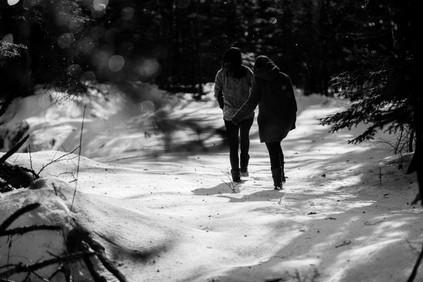 Two Girls Walking