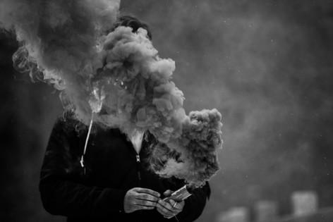 Black and White Smoke Photo