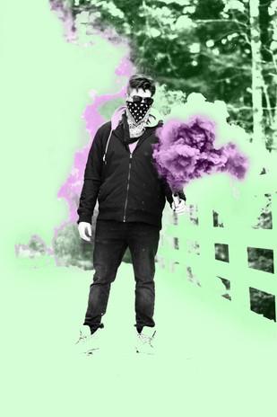 Green and Purple Smoke