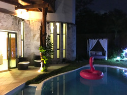 Pool at Night and Jr Suite