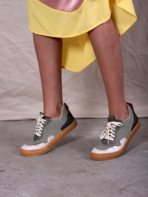 Sneaker Verde/Bege