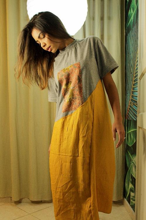 Vestido Paineira Ocre