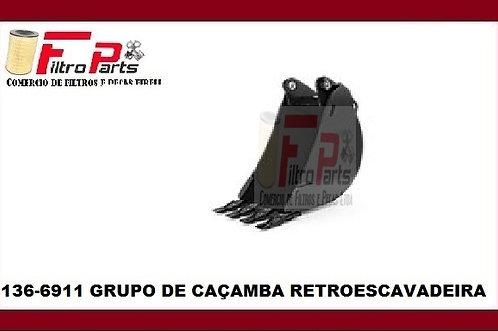 136-6911  GRUPO DE CAÇAMBA RETROESCAVADEIRA