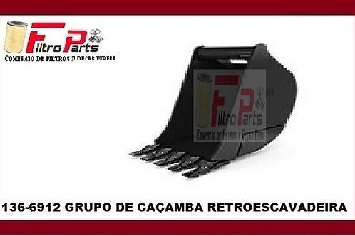 136-6912 GRUPO DE CAÇAMBA RETROESCAVADEIRA