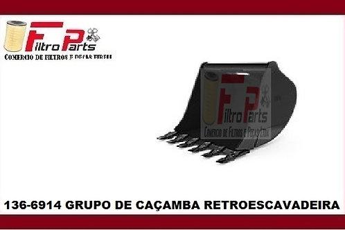 136-6914  GRUPO DE CAÇAMBA RETROESCAVADEIRA