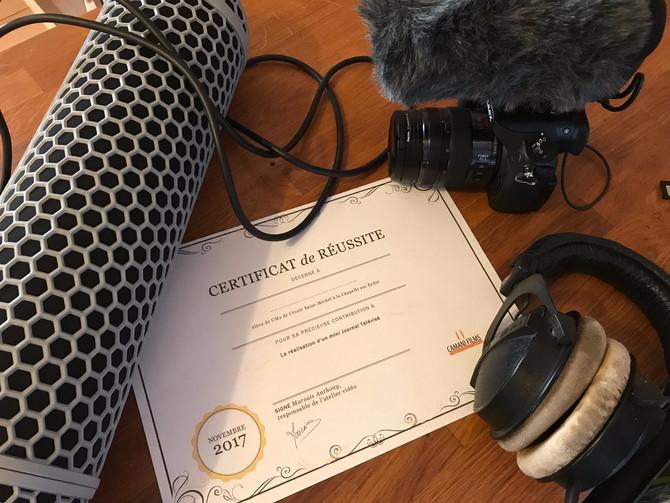 Atelier vidéo : les CM2 diplômés !