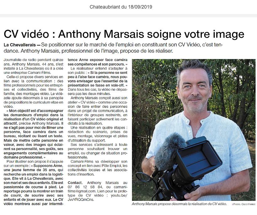 Article_Ouest_France_CV_Vidéo_18_septemb