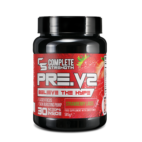 Complete Strength Preworkout - PreV2 - Strawberry Laces