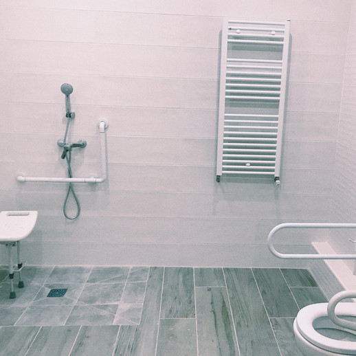 Adapted bathrooms