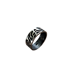 Josanne Mark wide band topo ring in Silver.png