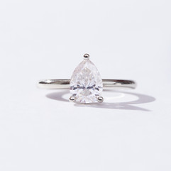Gold and Moissanite  Engagement ring