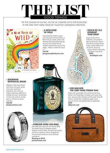 josanne mark on island origins magazine.