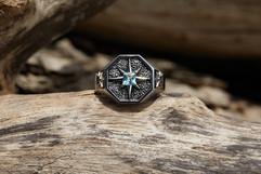 Custom Art Deco Signet Ring