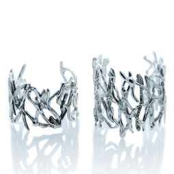 sterling silver driftwood cuff bracelet
