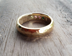 Custom Forever with You Wedding Band
