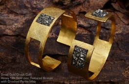 Small Gold crush cuffs