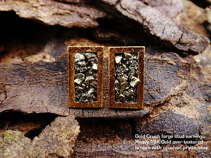 Lg Gold crush earrings